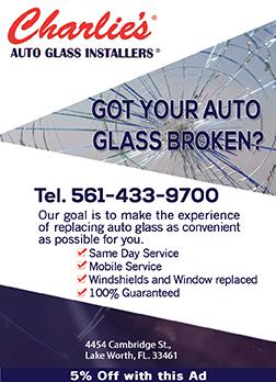 Charlies Auto Glass Ad Design