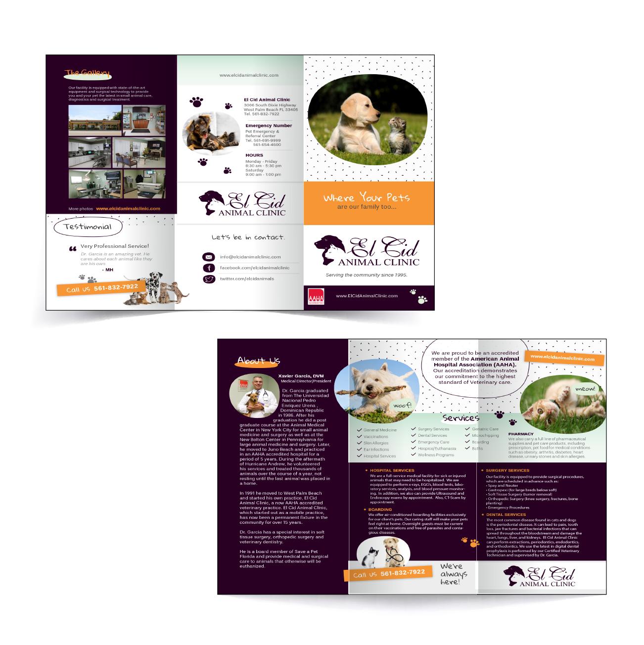 El Cid Animal Clinic Brochure Design